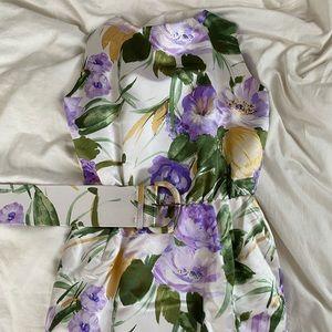 Vintage Oscar de la Renta floral dress w belt